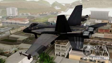 FA-18 HARV para GTA San Andreas left