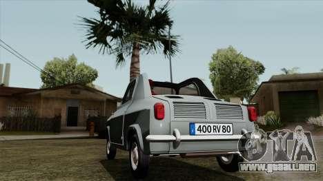 Vespa 400 para GTA San Andreas vista posterior izquierda