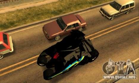 The Tumbler UA Style para GTA San Andreas vista hacia atrás