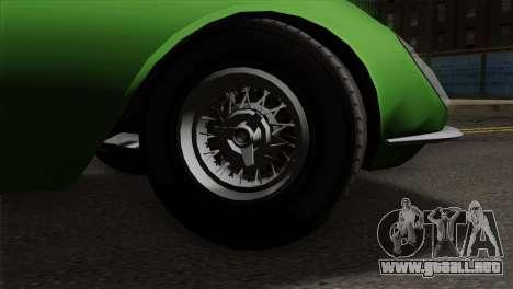 GTA 5 Grotti Stinger GT v2 para GTA San Andreas vista posterior izquierda