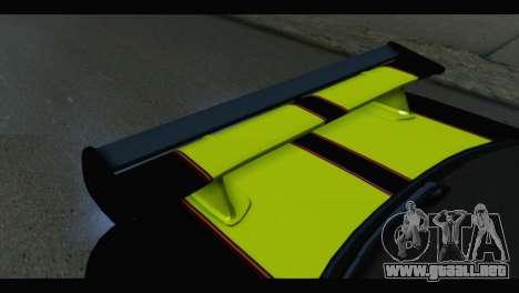 Nissan Skyline R34 BudMat para GTA San Andreas vista hacia atrás
