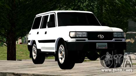 Toyota Land Cruiser 80 para GTA San Andreas vista hacia atrás