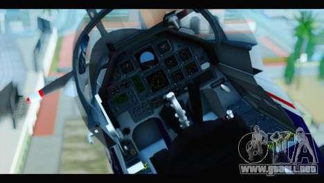 Beechcraft T-6 Texan II US Air Force 2 para GTA San Andreas vista hacia atrás
