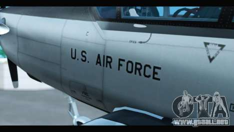 Beechcraft T-6 Texan II US Air Force 3 para la visión correcta GTA San Andreas