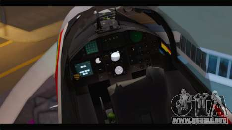 F-15J Hyakuri Air Base 30th Anniversary para GTA San Andreas vista hacia atrás