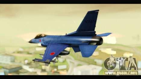 Mitsubishi F-2A JASDF Blue v2.0 para GTA San Andreas left