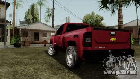 Chevrolet Silverado Cabina Sencilla para GTA San Andreas left