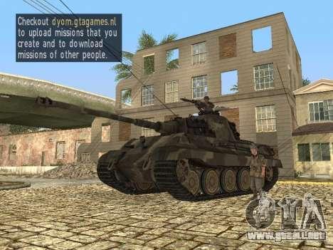 Panzerkampfwagen Tiger II para GTA San Andreas left