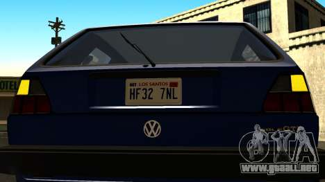 Volkswagen Golf Mk2 para vista lateral GTA San Andreas