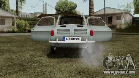 Vespa 400 para la visión correcta GTA San Andreas