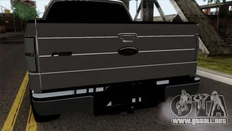 Ford F-150 4X4 Off Road para GTA San Andreas vista hacia atrás