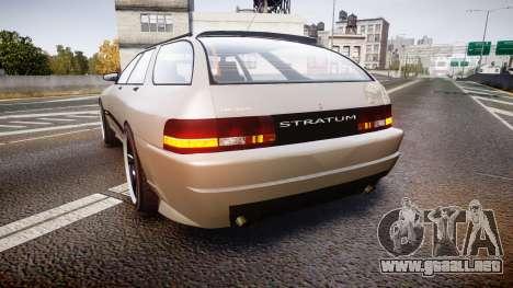 Zirconium Stratum GT para GTA 4 Vista posterior izquierda