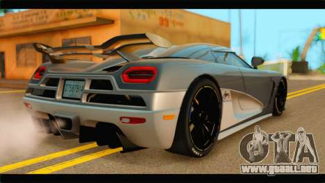Koenigsegg Agera R 2011 Stock Version para GTA San Andreas left
