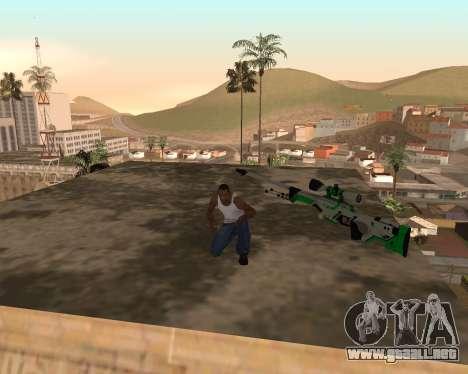 Green Pack Asiimov CS:GO para GTA San Andreas segunda pantalla