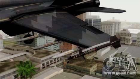 FA-18 HARV para la visión correcta GTA San Andreas