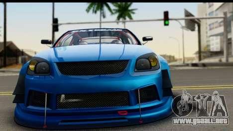 Chevrolet Cobalt SS Mio Itasha para GTA San Andreas vista posterior izquierda
