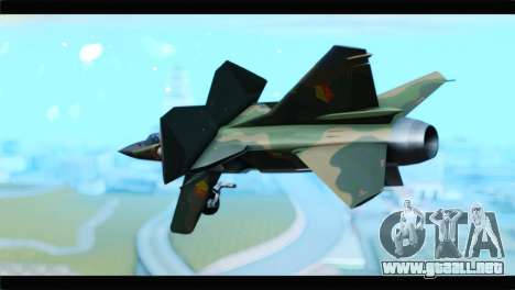 MIG-23ML Yuktobanian Air Force para GTA San Andreas left