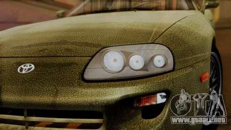 Toyota Supra Turbo (JZA80) 1998 FF7 Edition para GTA San Andreas vista hacia atrás