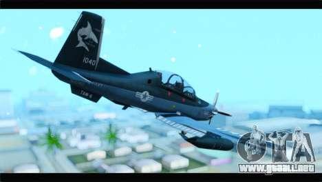 Beechcraft T-6 Texan II United States Navy 2 para GTA San Andreas left