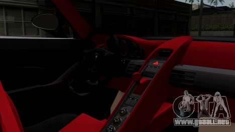 Gemballa Mirage GT v1 Windows Down para GTA San Andreas vista posterior izquierda
