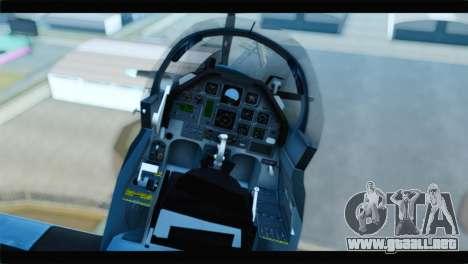 Beechcraft T-6 Texan II United States Navy 2 para GTA San Andreas vista hacia atrás