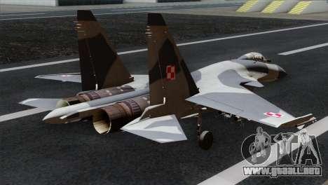 SU-37 Flanker-F Polish Air Force para GTA San Andreas left