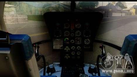 MBB Bo-105 Red Bull para GTA San Andreas vista hacia atrás