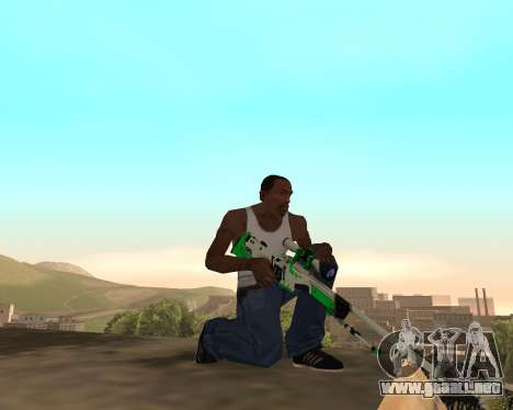 Green Pack Asiimov CS:GO para GTA San Andreas