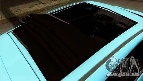 Ford Fiesta 2009 Minty Fresh para GTA San Andreas vista hacia atrás