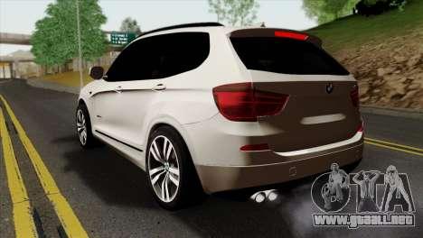 BMW X3 F25 2012 para GTA San Andreas left