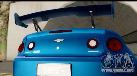 Chevrolet Cobalt SS Mio Itasha para la visión correcta GTA San Andreas