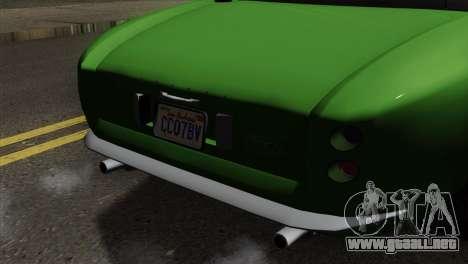 GTA 5 Grotti Stinger GT v2 para GTA San Andreas vista hacia atrás