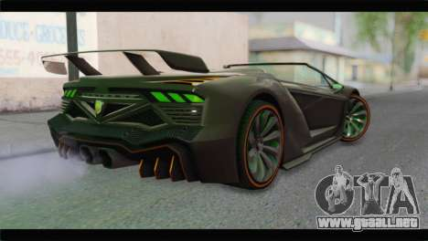 GTA 5 Pegassi Zentorno Spider para GTA San Andreas left