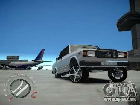 VAZ 2107 Aze para GTA 4 vista hacia atrás