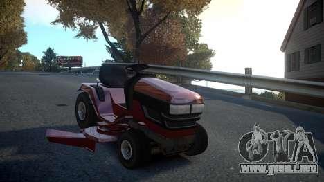 GTA V Lawn Mower para GTA 4 vista hacia atrás