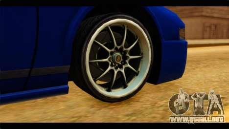 Infernus Rapide GTS para GTA San Andreas vista posterior izquierda
