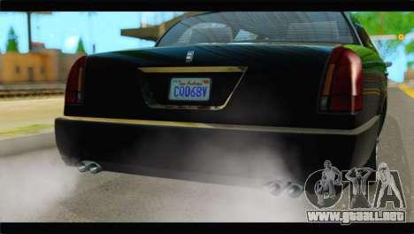 GTA 5 Dundreary Stretch IVF para GTA San Andreas vista hacia atrás