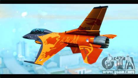 F-16D Fighting Falcon Dutch Demo Team J-015 para GTA San Andreas left