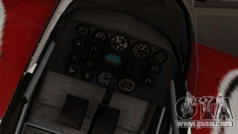 GTA 5 Stuntplane para GTA San Andreas vista hacia atrás