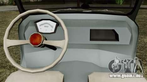 Vespa 400 para GTA San Andreas vista hacia atrás