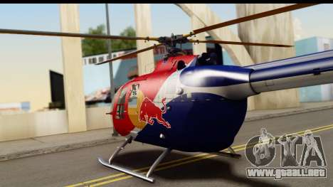 MBB Bo-105 Red Bull para la visión correcta GTA San Andreas
