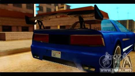 Infernus Rapide GTS para GTA San Andreas vista hacia atrás
