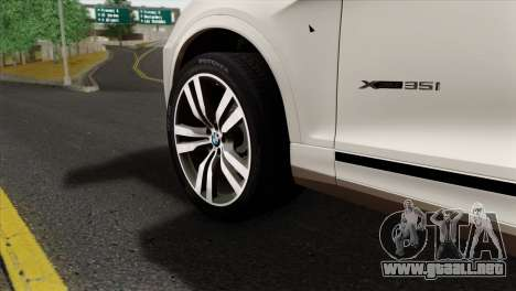BMW X3 F25 2012 para GTA San Andreas vista posterior izquierda