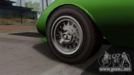 GTA 5 Grotti Stinger GT v2 SA Mobile para GTA San Andreas vista posterior izquierda