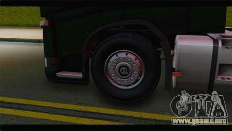 Volvo FH4 para GTA San Andreas vista posterior izquierda