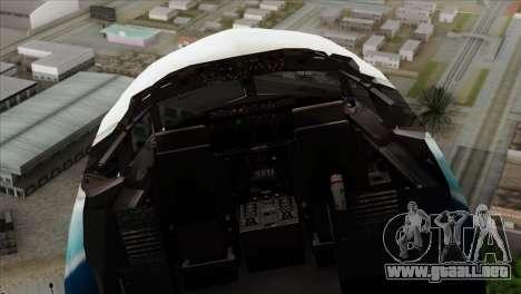 Boeing B737-800 Pilot Life Boeing Merge para GTA San Andreas vista hacia atrás