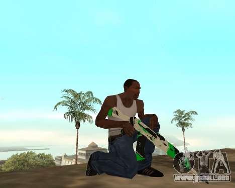 Green Pack Asiimov CS:GO para GTA San Andreas sexta pantalla