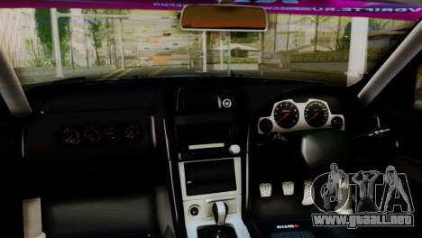 Nissan Skyline GTR34 Tokage para la visión correcta GTA San Andreas
