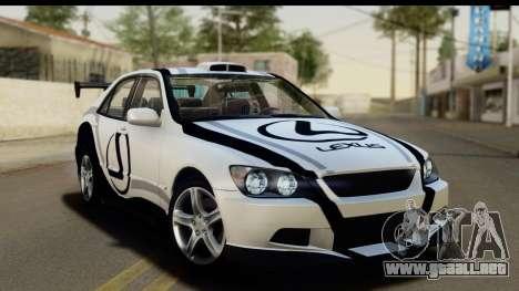Lexus IS300 Tunable para las ruedas de GTA San Andreas