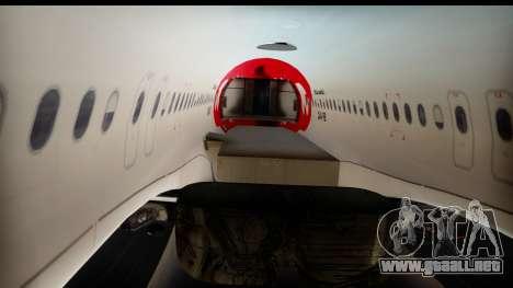 Airbus A320-200 OLT Express para visión interna GTA San Andreas
